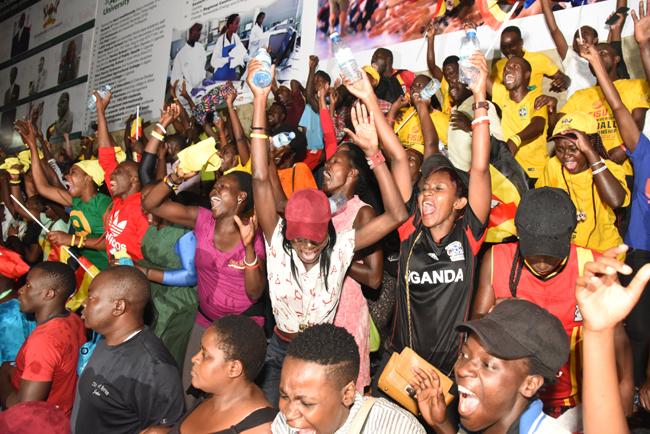 Team Uganda fans celebrate