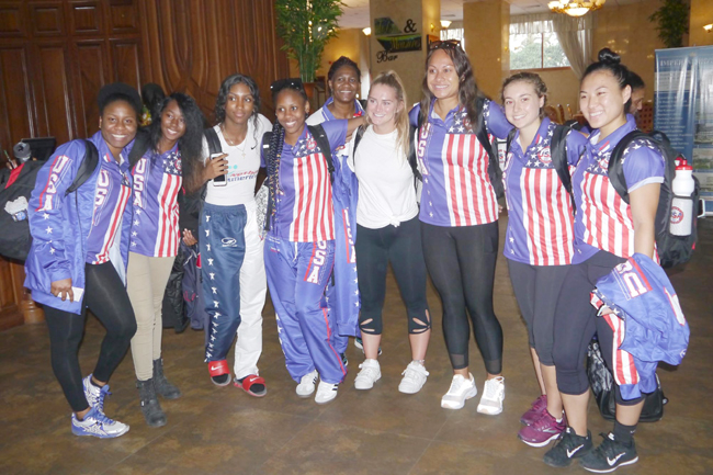 USA netball team in Kampala