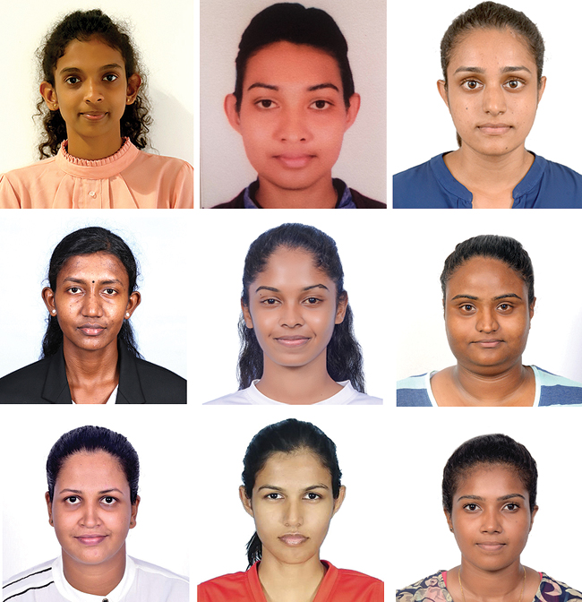 Some of the Sri Lankan players