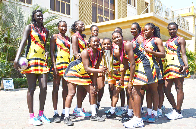 The She Cranes celebrate winning the African Netball Championship